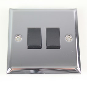 2 Gang 2 Way Chrome Light Switch