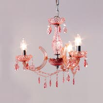 Kids Pink Marie Therese 3 Light Fitting