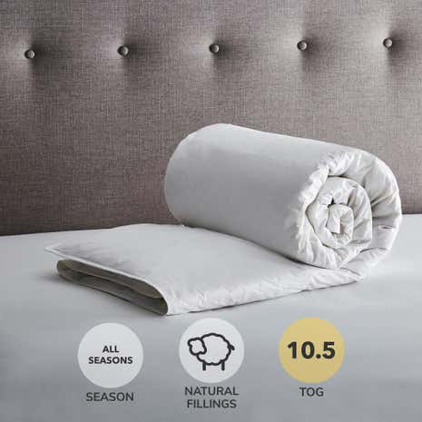 Hotel 10.5 Tog White Goose Feather and Down Duvet