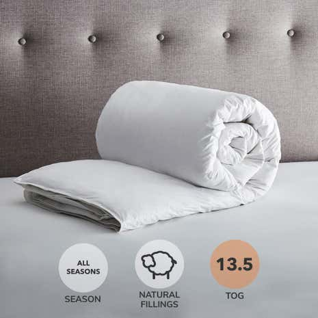 Hotel Goose Feather and Down All Seasons 13.5 Tog Duvet