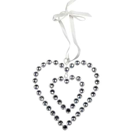Sparkle Hanging Jewel Heart