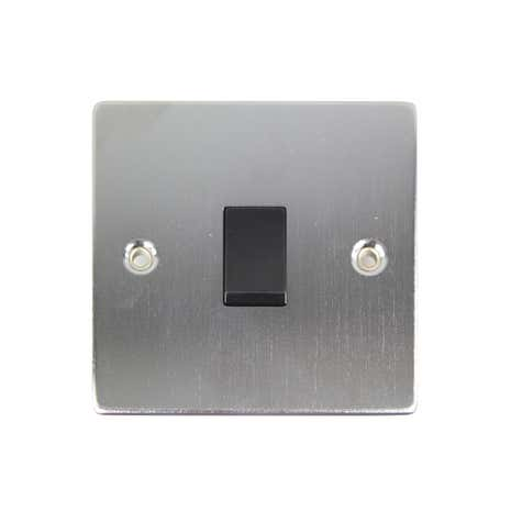 1 Gang 2 Way Brushed Chrome Light Switch