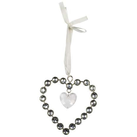 Sparkle Small Hanging Jewel Heart