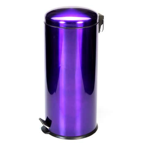 Purple Spectrum Metallic 30 Litre Pedal Bin