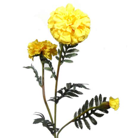Artificial Yellow Spring Marigold Spray