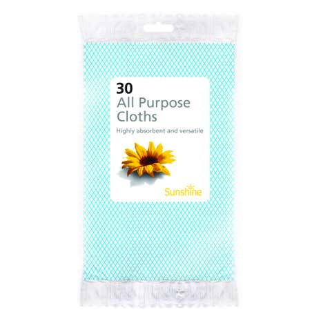 Sunshine Pack of Thirty All Purpose Cloths
