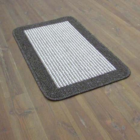 Tonal Stripe Washable Mat