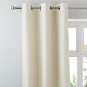 Nova Natural Blackout Lined Eyelet Curtains
