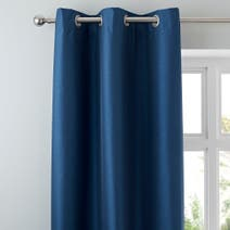 Navy Nova Blackout Lined Eyelet Curtains