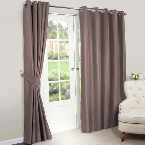 Great Nova Gold Blackout Lined Eyelet Curtains