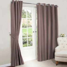 Nova Gold Blackout Lined Eyelet Curtains