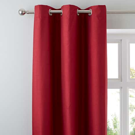 Nova Red Blackout Lined Eyelet Curtains