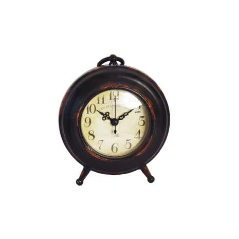 Colonial Rustic Mantel Clock With Handle