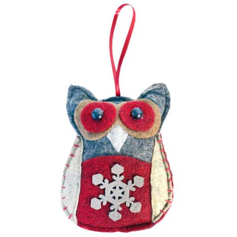 Woodland Retreat Felt Owl