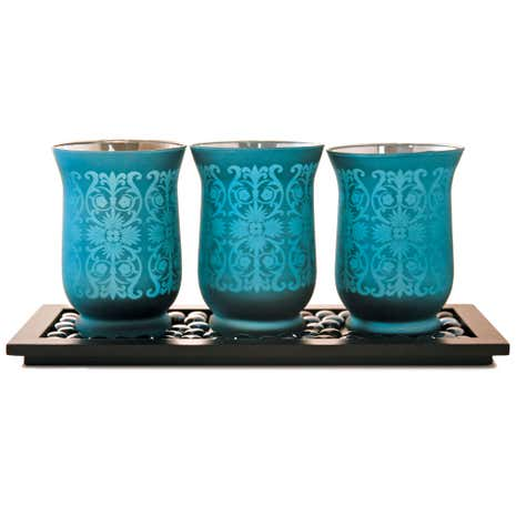 Global Fusion Hurricane Candle Holder Set