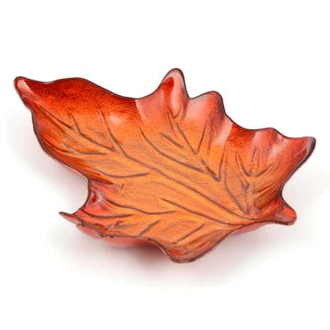 Woodland Retreat Glass Leaf Plate