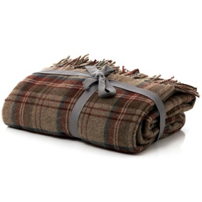 Checked Tweed Throw