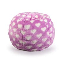 Kids Fur Heart Scrunchie Beanbag