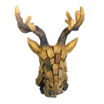 Stags Head Wood Effect Block