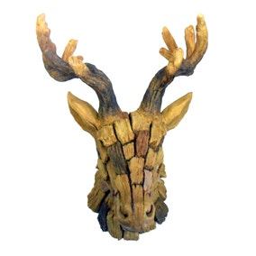 Stag's Head Wood-Effect Block
