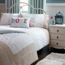 Duck Egg Country Spot Bedspread