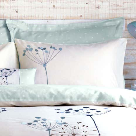 Duck Egg Cow Parsley Housewife Pillowcase