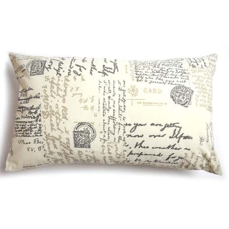 Cream Vintage Paris Boudoir Cushion