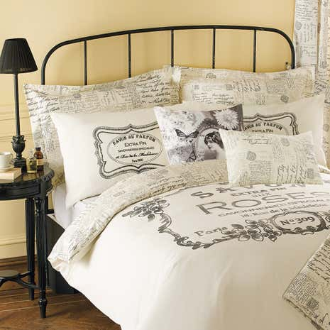 Cream Vintage Paris Oxford Pillowcase