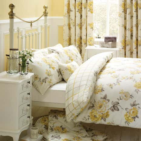 Lemon Windermere Duvet Cover Set