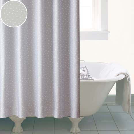 Polka Heart Shower Curtain