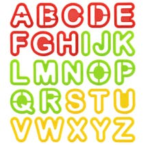 Kids Alphabet Cookie Cutters in a Tube