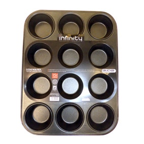 Infinity Ultimate Bake Glidex 12 Cup Muffin Tray