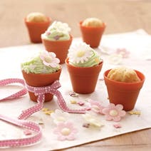 Set of 6 Silicone Flowerpot Cake Cases