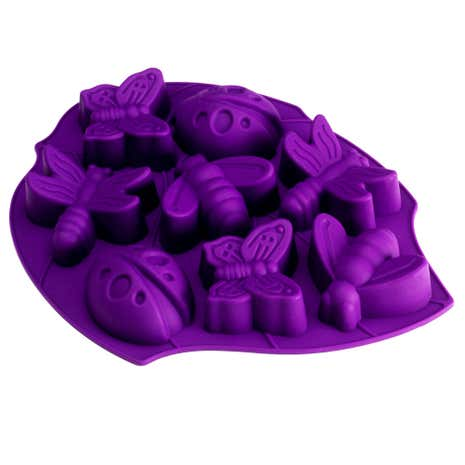 Kids Silicone Bugs and Butterflies 8 Cup Cake Mould
