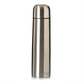 Spectrum Silver Stainless Steel Flask