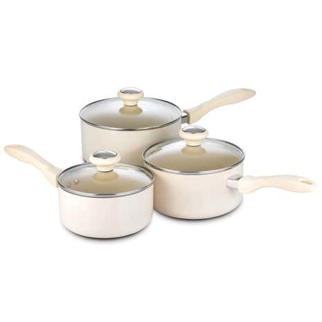 Prestige Create Cream 3 Piece Saucepan Set