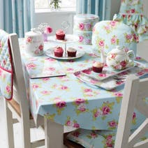 Rose and Ellis Clarendon PVC Round Tablecloth