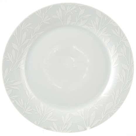 White on White Side Plate
