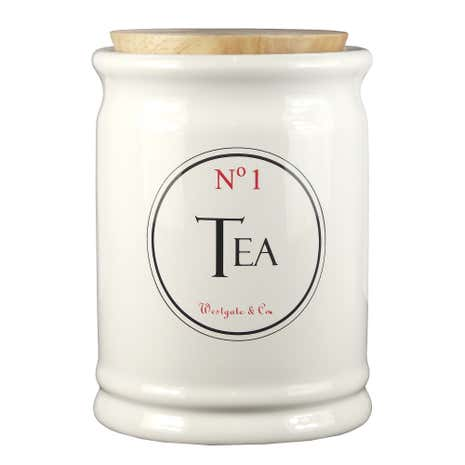 Vintage Tea Sign Tea Canister