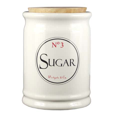 Vintage Tea Sign Sugar Canister