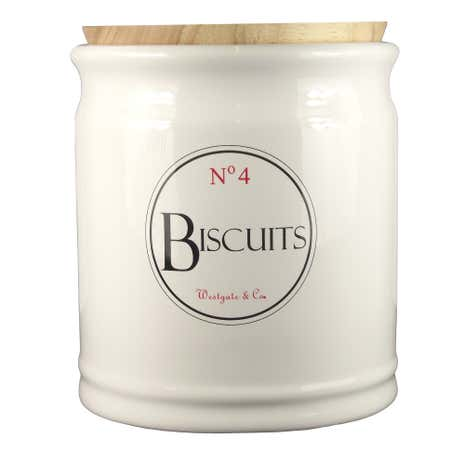 Vintage Tea Sign Biscuit Canister