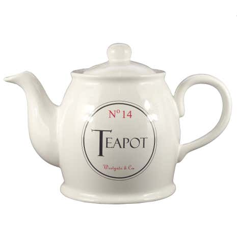 Vintage Tea Sign Teapot