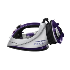 Russell Hobbs 18617 2400w Easy Wrap and Clip Purple Ceramic Iron