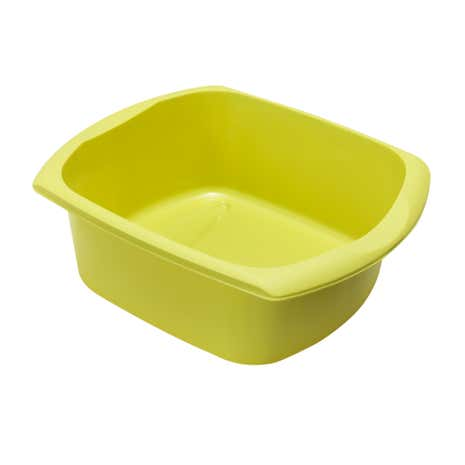 Spectrum Lime Rectangular Washing Up Bowl