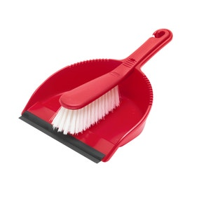 Spectrum Red Dustpan and Brush