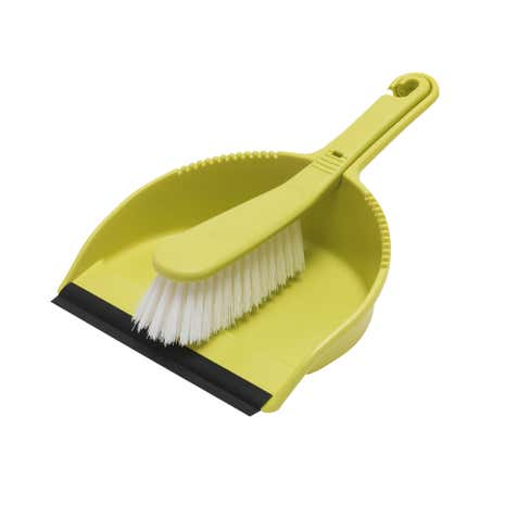 Lime Spectrum Dustpan and Brush