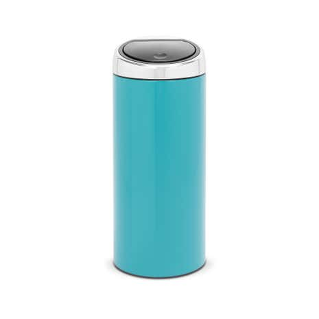 Brabantia Sky Blue Lacquered Steel 30-Litre Touch Bin