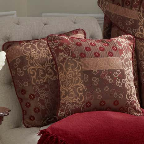Mayfair Claret Cushion