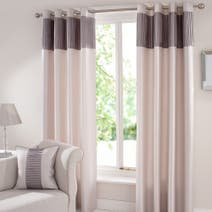 Montreal Silver Lined Eyelet Curtains