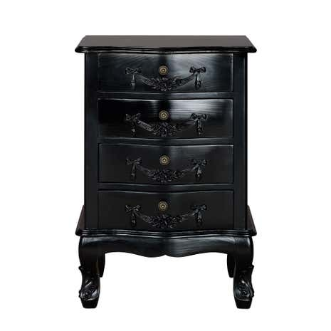 Toulouse Black 4 Drawer Chest